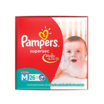 PAÑALES-SUPERSEC-MEDIANO-PAMPERS-26UD