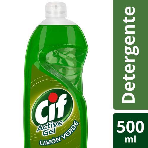 Detergente-Lavavajilla-Concentrado-CIF-Limon-Verde-500-ml