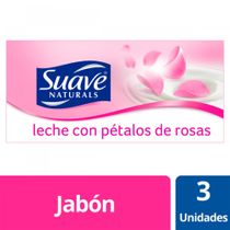 Jabon-Pastilla-Multipack-Suave-Leche-con-petalos-de-rosas-3x90grs