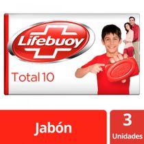 Jabon-Pastilla-Multipack-Antibacterial-LIFEBUOY-Total-10-3x125grs