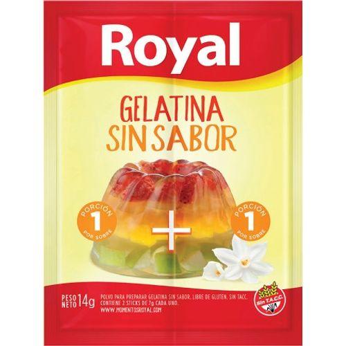 ROYAL GELATINA  SIN SABOR X 14 GRS