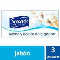Jabon-Pastilla-Multipack-Suave-Avena-y-Aceite-de-algodon-3x90grs
