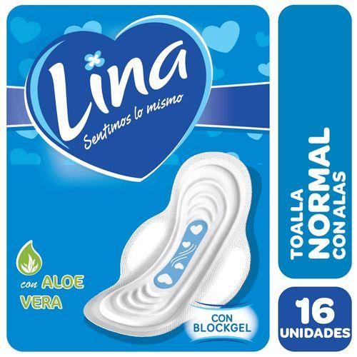 TOALLA-FEMENINA-ULTRAFINAS-CON-ALAS-LINA-16-UD