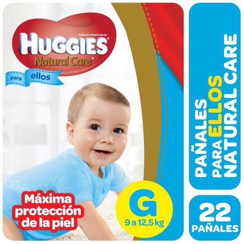 PAÑALES-HUGGIES-NATURAL-CARE-PELLOS-G-22UD
