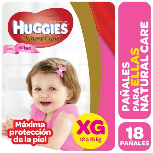 PAÑALES-HUGGIES-NATURAL-CARE-PELLAS-XG-18UD