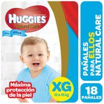 PAÑALES-HUGGIES-NATURAL-CARE-PELLOS-XG-18UD