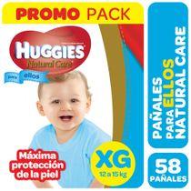 PAÑALES-NATURAL-CARE-XG-ELLOS-HUGGIES-58UD