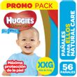PAÑALES-NATU-CARE-XXG-HUGGIES-ELLOS-56UD