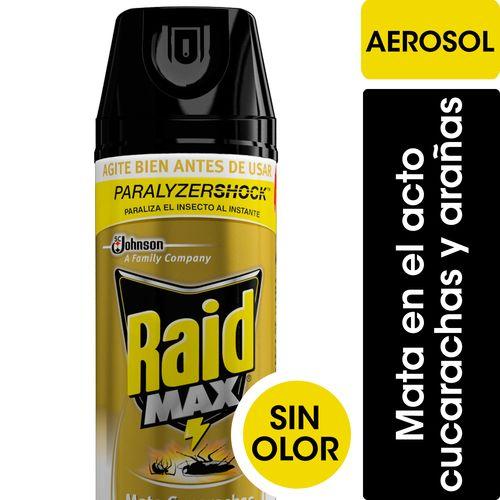 INSECTICIDA-EN-AEROSOL-MATA-CUCARACHAS-Y-ARAÑAS--RAID-400ML