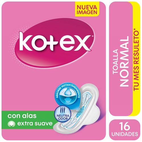 Toallitas-Femeninas-Kotex-Normal-con-Alas-y-Gel-16-Ud