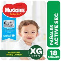 Pañales-Huggies-Active-Sec-Megapack-XG-18-Un