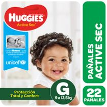 Pañales-Huggies-Active-Sec-Megapack-G-22-Un