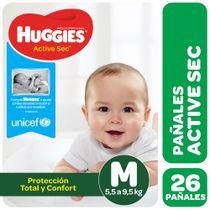 Pañales-Huggies-Active-Sec-Megapack-M-26-Un