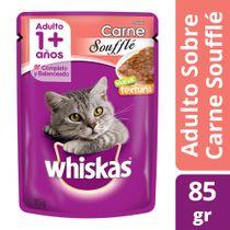 Alimento-Humedo-para-Gatos-Whiskas-Adulto-Pouch-Souffle-de-Carne-85-Gr-_1